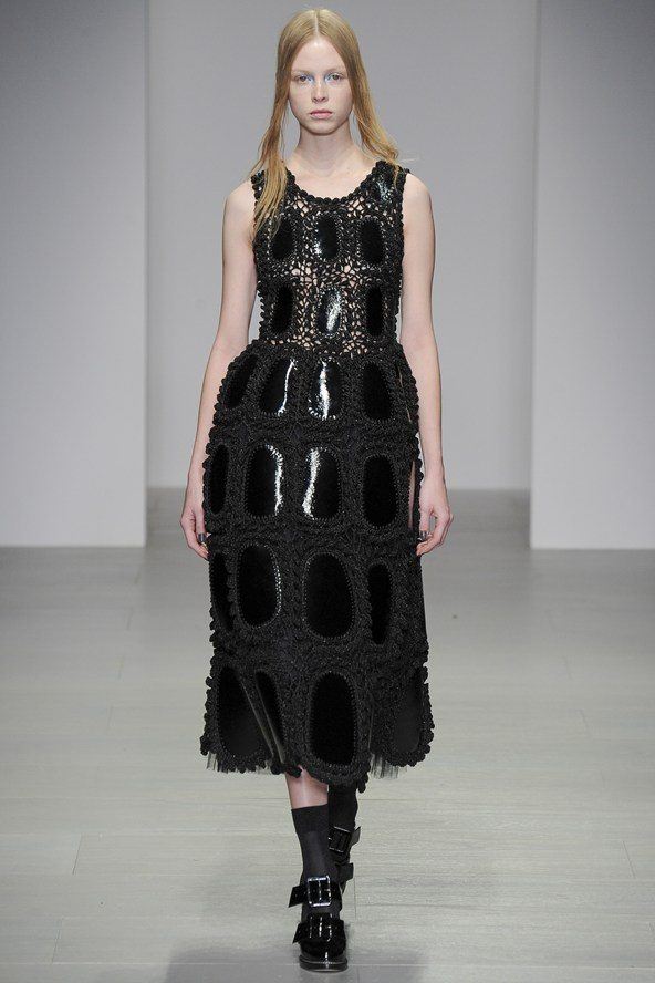 rocha crochet square New Crochet on the Runway from John Rocha (Autumn/Winter 2014 Fashion Week)