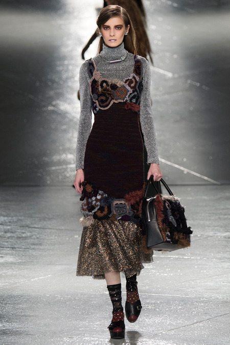rodarte freeform crochet dress