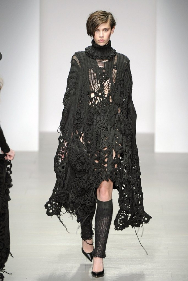 sister by sibling black crochet dress