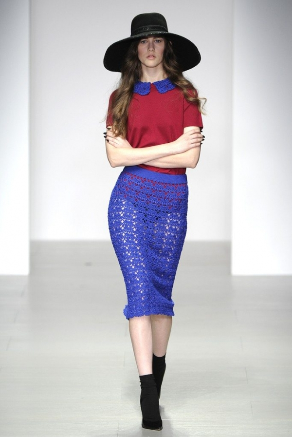 sister by sibling crochet collar and skirt