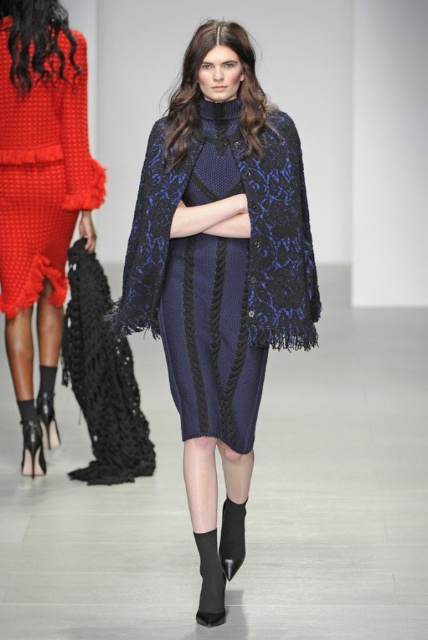 sister by sibling knitwear 600x897 New Crochet on the Runway from Sister by Sibling (Autumn/Winter 2014 Fashion Week)