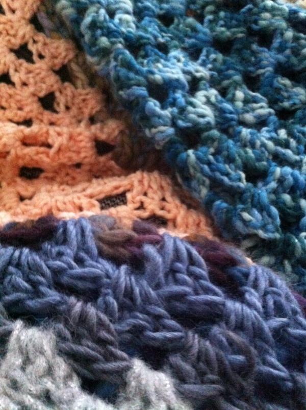 large crochet granny blanket
