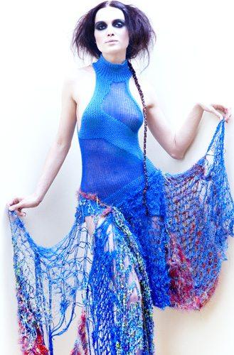 Indra Dovydėnaitė art crochet fashion Crochet Artwear by Indra Dovydėnaitė