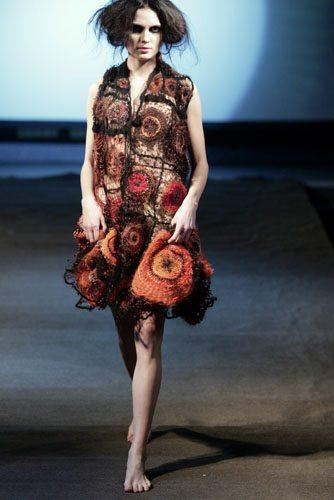 Indra Dovydėnaitė crochet clothing Crochet Artwear by Indra Dovydėnaitė