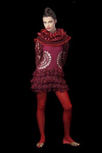 Indra Dovydėnaitė fashion Crochet Artwear by Indra Dovydėnaitė