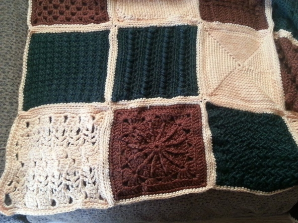 afghan sampler 600x450 Meet Sabrina: Crocheting for Others