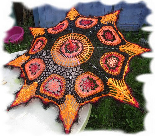 autumn crochet umbrella