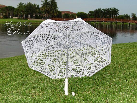 vlinder gehaakte paraplu