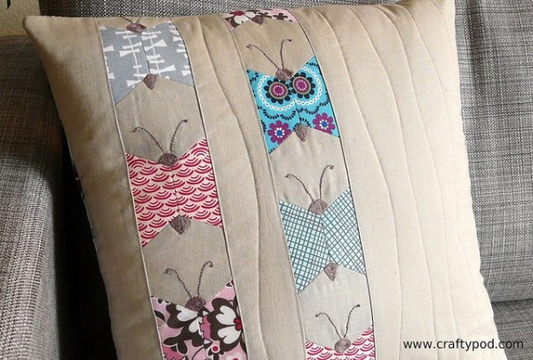 butterfly pillow 600x406 Link Love for Best Crochet Patterns, Ideas and News