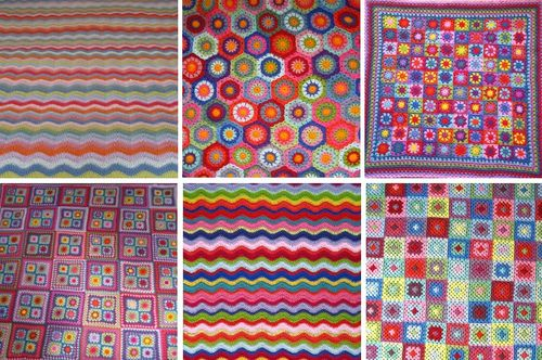 colorful crochet blankets Link Love for Best Crochet Patterns, Ideas and News