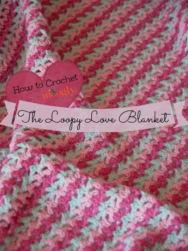 All Crochet Com : Loopy Love Crochet Blanket Pattern from @mooglyblog