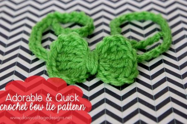 crochet bow tie pattern