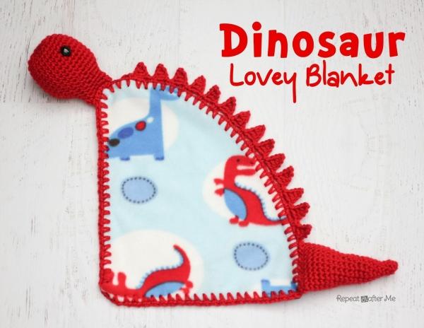 crochet dinosaur blanket