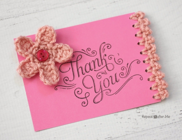 crochet edged card 600x461 Link Love for Best Crochet Patterns, Art, Ideas and News