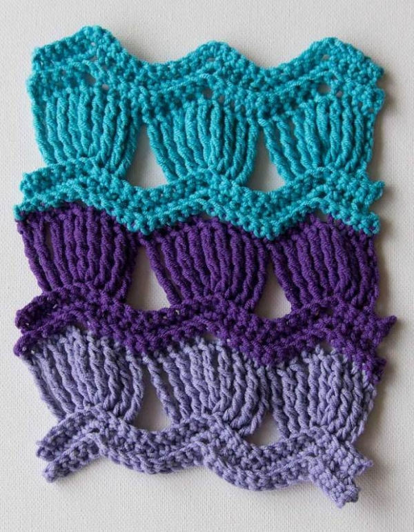 crochet fan ripple pattern