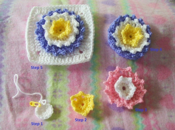 crochet flower square pattern 600x447 Link Love for Best Crochet Patterns, Ideas and News