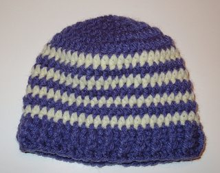 crochet baby hat pattern for Purple Crying