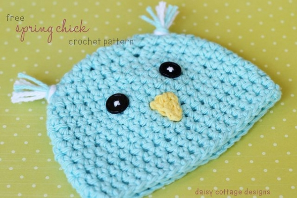 spring chick baby hat free pattern