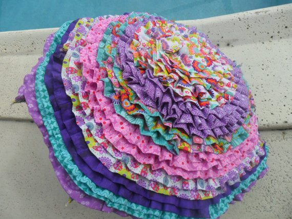 crochet rag rug umbrella