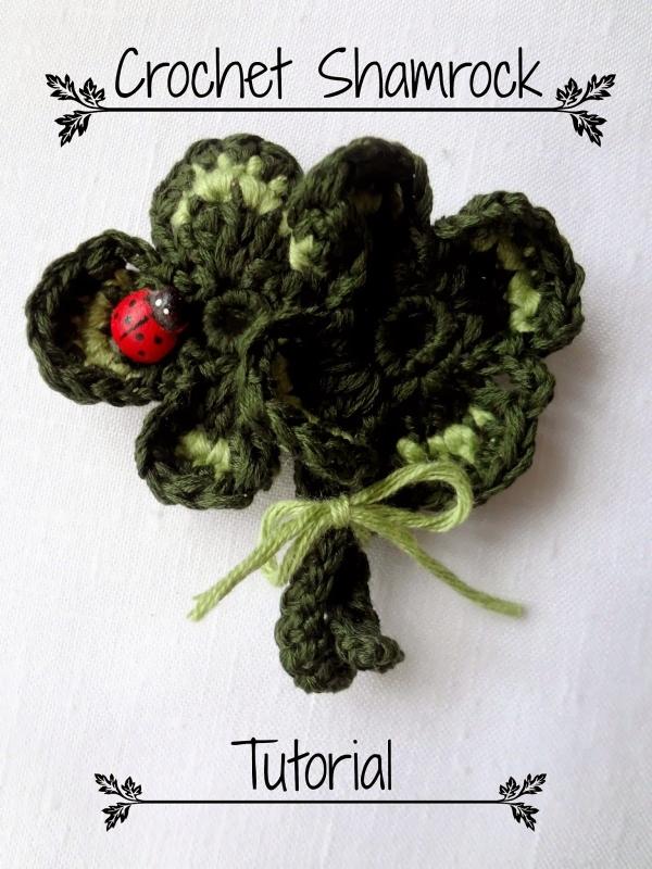 crochet shamrock free pattern