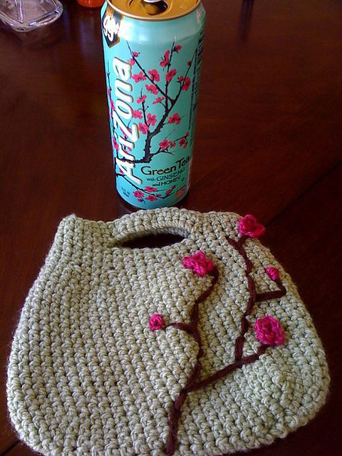 crochet tote bag pattern 15 Beautiful Cherry Blossom Crochet Patterns