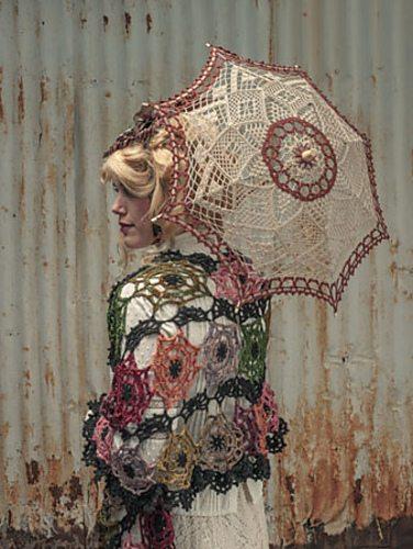 gehaakte paraplu verweven