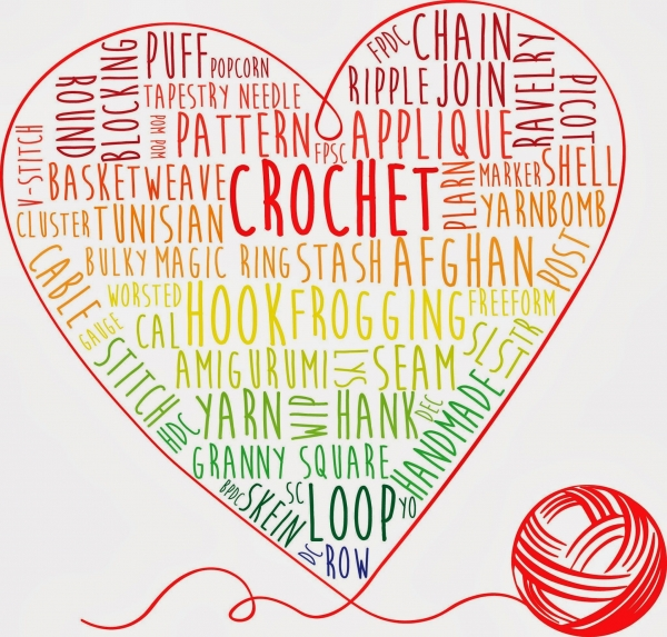 crochet words art 600x573 Link Love for Best Crochet Patterns, Ideas and News
