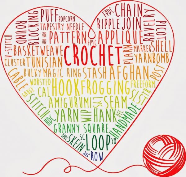 crochet words art