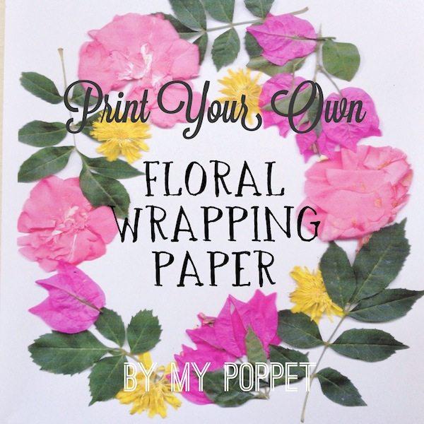 diy floral paper