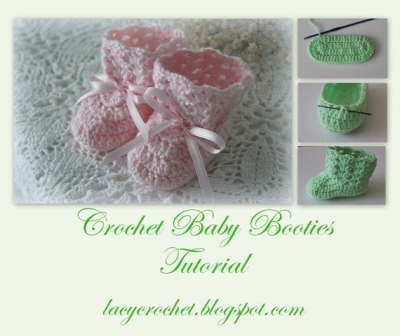 free crochet baby booties pattern 400x336 Link Love for Best Crochet Patterns, Ideas and News