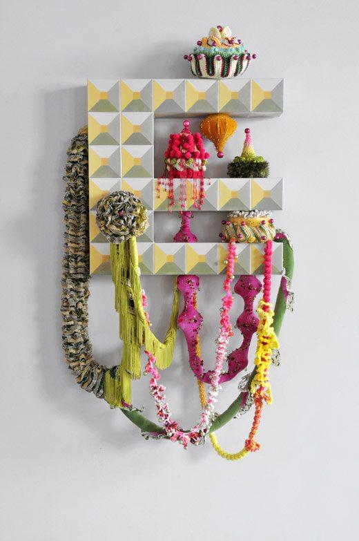 mixed media crochet art joana