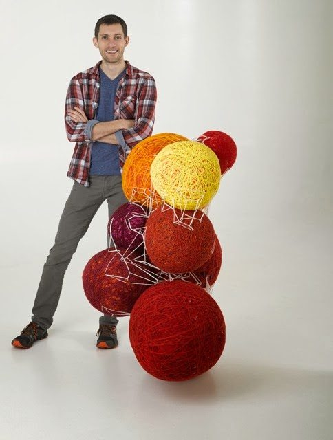 nathan vincent yarn ball art