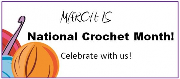national crochet month 600x264 Link Love for Best Crochet Patterns, Ideas and News
