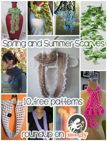 spring crochet scarf patterns Roundups of Beautiful Spring Crochet Patterns