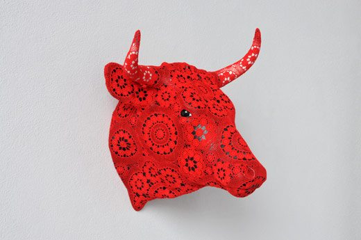 vasconcelos crochet art bull New Solo Exhibit by Crochet Artist Joana Vasconcelos