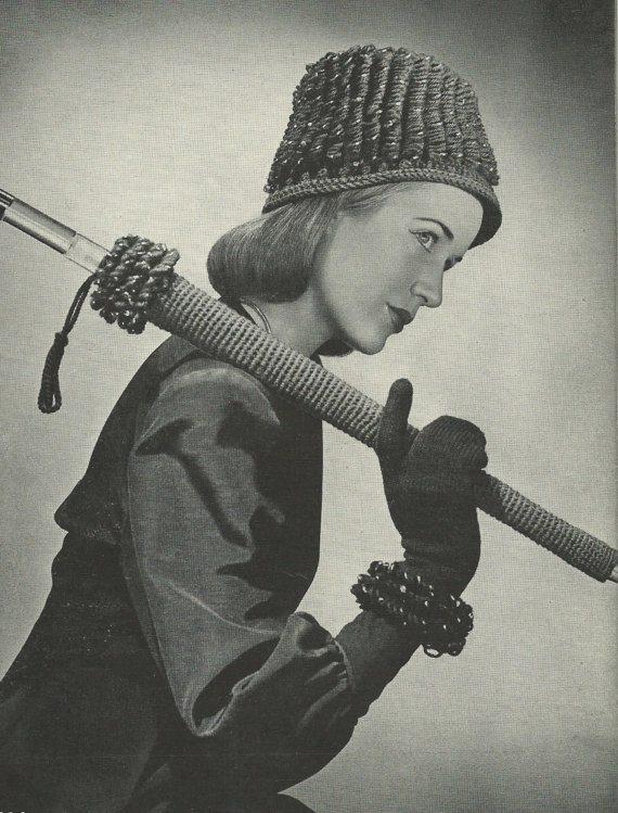 vintage gehaakte paraplu