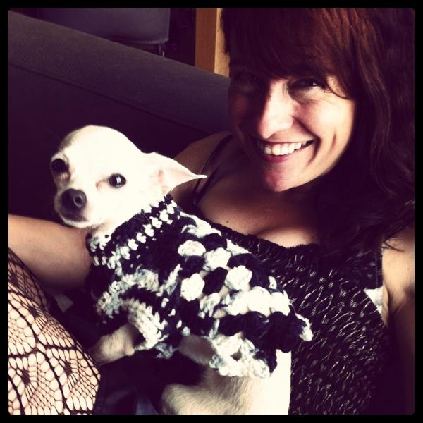 chihuahua puppy crochet sweater