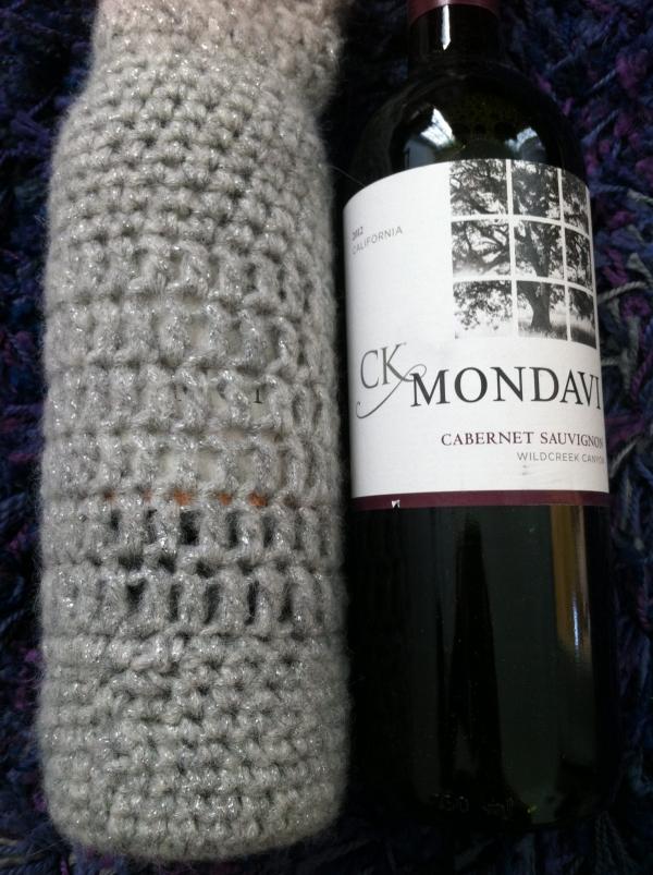 crochet wine cozies