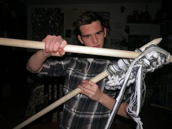 broom handle knitting