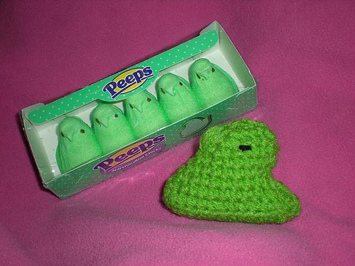 classic marshmallow crochet peep Easter Crochet: Peeps!