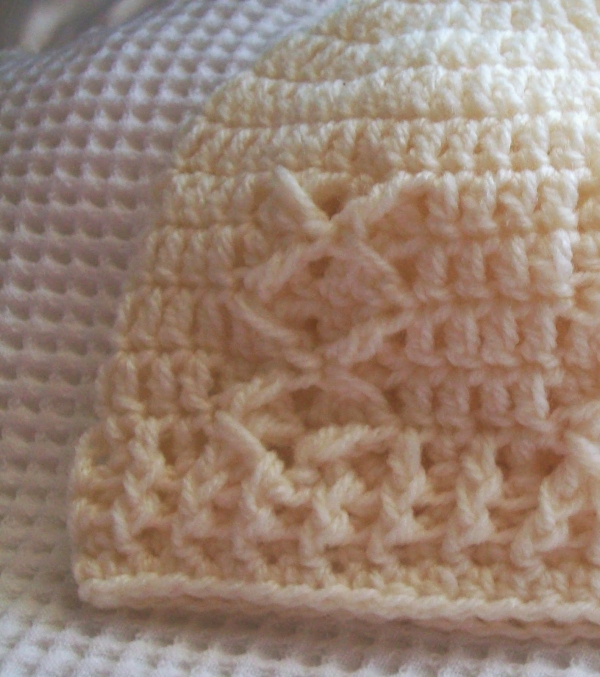 baby kisses free crochet hat pattern