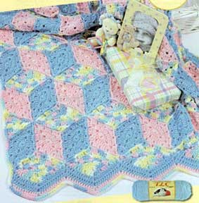crochet block blanket Beyond a Blanket: 10 Crochet Quilt Patterns
