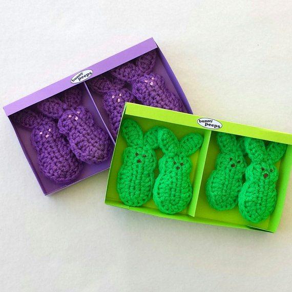 crochet bunny peeps