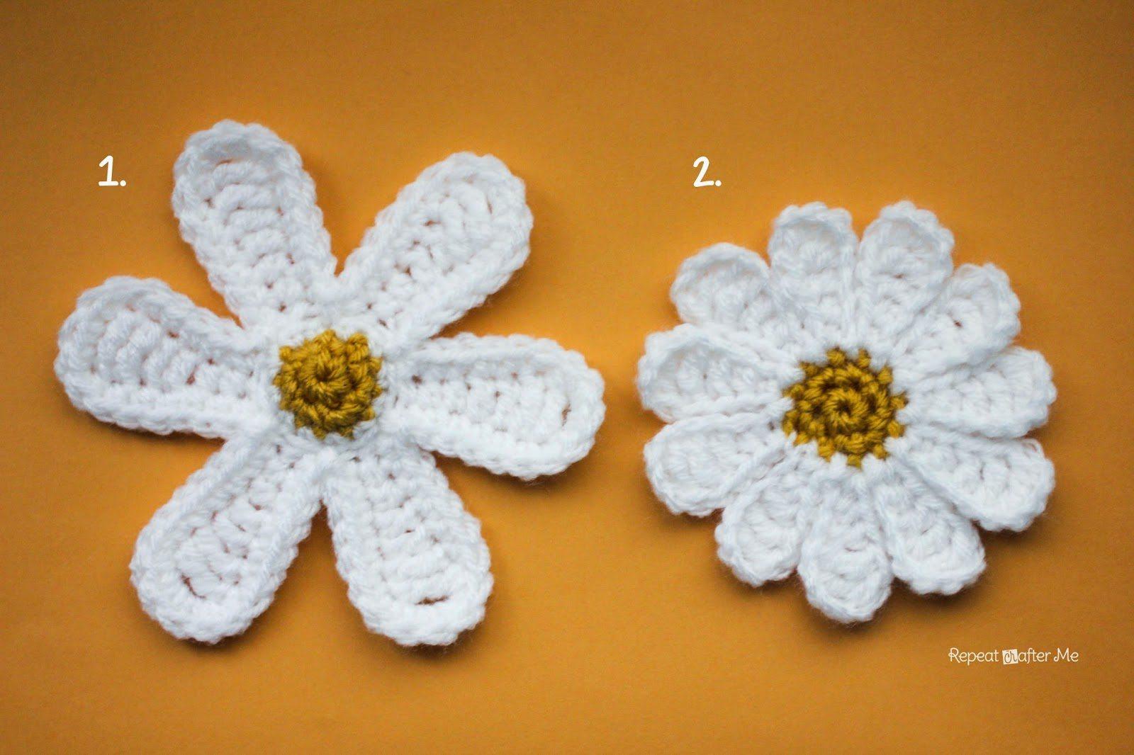 crochet daisy flower patterns
