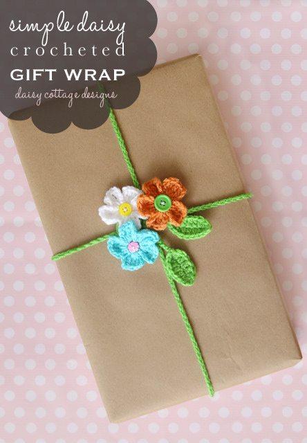 crochet gift wrap
