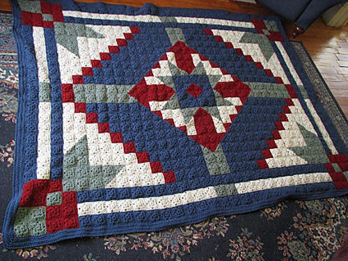 The Desert Star Crochet Quilt is a free crochet blanket pattern on ...