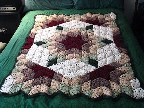 crochet quilt blanket Beyond a Blanket: 10 Crochet Quilt Patterns