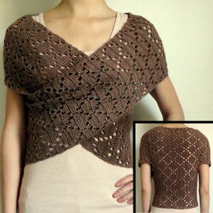 crochet sweater drape