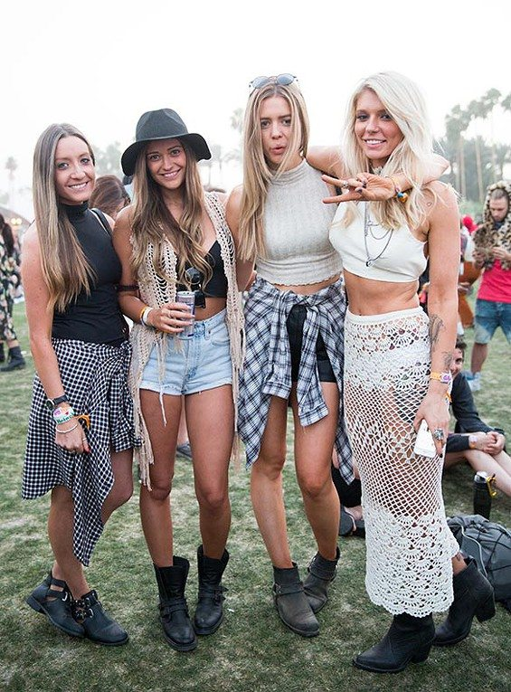 crochet vest and skirt 2014 Coachella Crochet Fashion