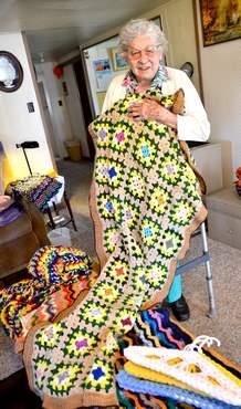 elderly crocheter